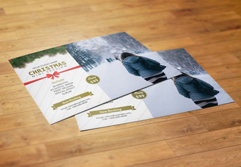 Christmas Photography Mini Session Flyer Layout