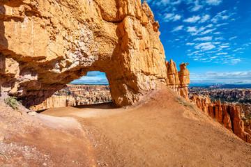 Fototapete - Bryce Canyon's Peek-a-boo Loop Trail