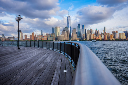 Manhattan skyline view from Jersey City waterfront