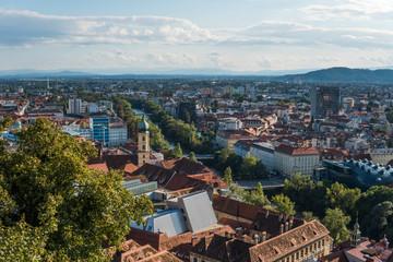 Austria.Graz. Church Mariahilf and square in center city