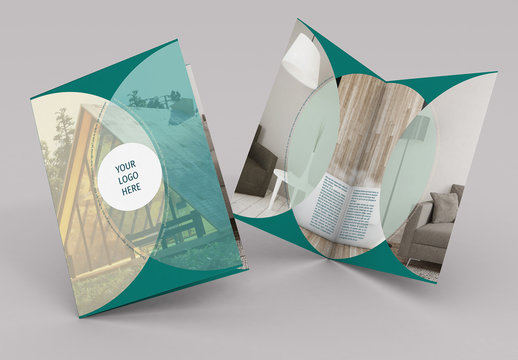 Brochure Layout with Circular Photo Elements