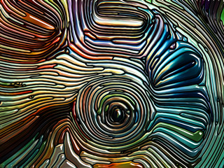 Waves of Iridescent Glass