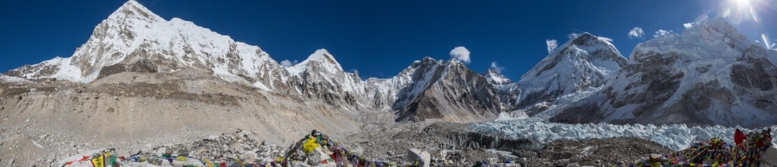 Panorama Mt. Everest Base Camp, Himalaya, Nepal