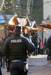 french policeman at Christmas Market