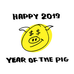 Happy 2019 year of the yellow pig