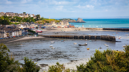 Panoramic view of the coast of Cancale