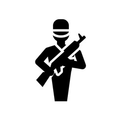 Dead icon. Trendy Dead logo concept on white background from army and war collection