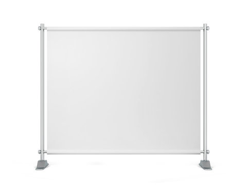 Blank backdrop banner