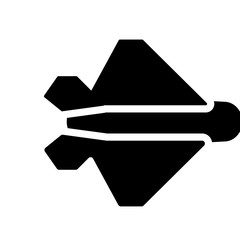 stealth icon. Trendy stealth logo concept on white background from army and war collection