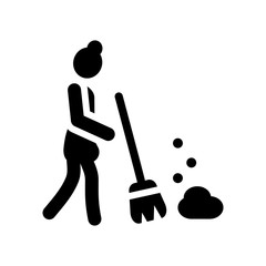 Broom icon. Trendy Broom logo concept on white background from cleaning collection
