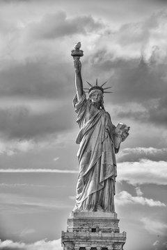 Statue of Liberty Black&White Dramatic Sky