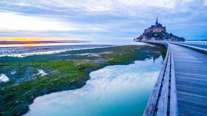Mont-Saint-Michel from the bridge