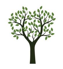 Green shape of  Tree. Vector Illustration.
