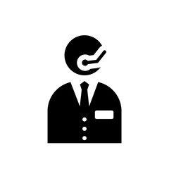 Receptionist icon. Trendy Receptionist logo concept on white background from Hotel and Restaurant collection