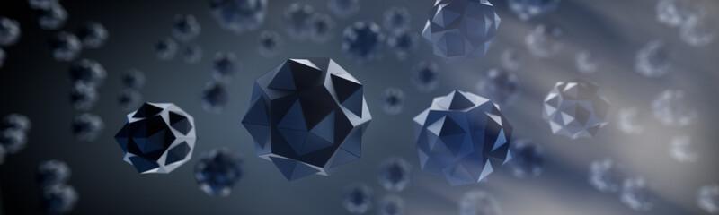 Fototapeta Schwarze Kristalle - Dunkle Materie - Querformat obraz