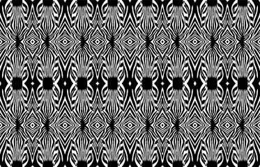 Zebra vector seamless pattern. Zebra head. Black and White.