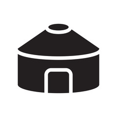Yurt icon. Trendy Yurt logo concept on white background from sauna collection