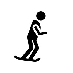 Skate icon. Trendy Skate logo concept on white background from Summer collection