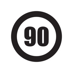 Speed limit sign icon. Trendy Speed limit sign logo concept on white background from Traffic Signs collection