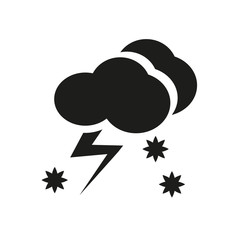 Thundersnow icon. Trendy Thundersnow logo concept on white background from Weather collection