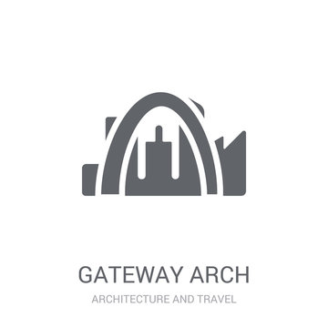 Gateway arch icon. Trendy Gateway arch logo concept on white background from Architecture and Travel collection
