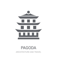 Pagoda icon. Trendy Pagoda logo concept on white background from Architecture and Travel collection