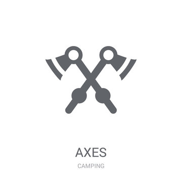 Axes icon. Trendy Axes logo concept on white background from camping collection