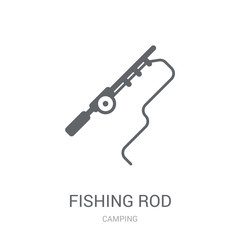 Fishing Rod icon. Trendy Fishing Rod logo concept on white background from camping collection