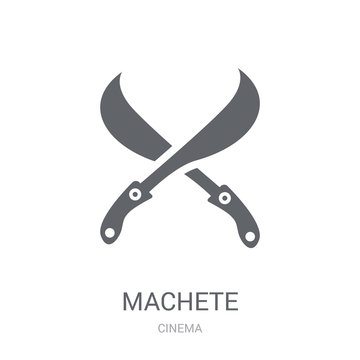 machete icon. Trendy machete logo concept on white background from Cinema collection