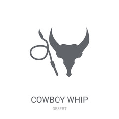 cowboy Whip icon. Trendy cowboy Whip logo concept on white background from Desert collection