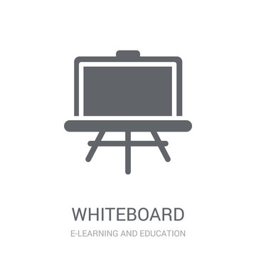 Whiteboard icon. Trendy Whiteboard logo concept on white background from E-learning and education collection