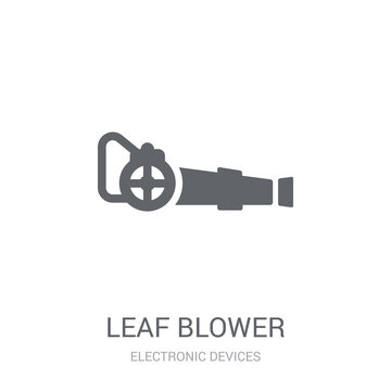leaf blower icon. Trendy leaf blower logo concept on white background from Electronic Devices collection