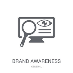 brand awareness icon. Trendy brand awareness logo concept on white background from General collection
