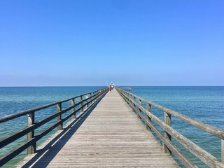 An endless jetty into the ozean Zingst, Germany