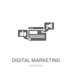 Digital marketing icon. Trendy Digital marketing logo concept on white background from Marketing collection