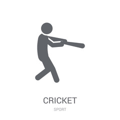 Cricket icon. Trendy Cricket logo concept on white background from Sport collection