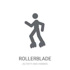 Rollerblade icon. Trendy Rollerblade logo concept on white background from Activity and Hobbies collection