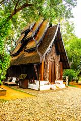 Beautiful wooden building in Baan Dam museum