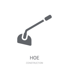 Hoe icon. Trendy Hoe logo concept on white background from Construction collection