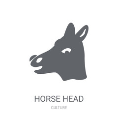 Horse Head icon. Trendy Horse Head logo concept on white background from Culture collection