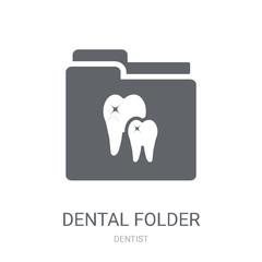 Dental Folder icon. Trendy Dental Folder logo concept on white background from Dentist collection
