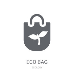 Eco bag icon. Trendy Eco bag logo concept on white background from Ecology collection