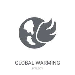 Global warming icon. Trendy Global warming logo concept on white background from Ecology collection