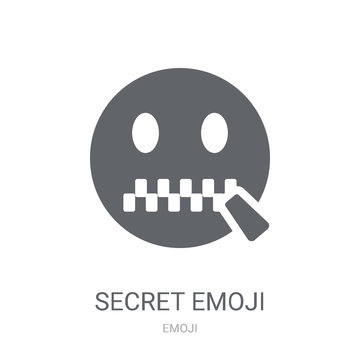 Secret emoji icon. Trendy Secret emoji logo concept on white background from Emoji collection