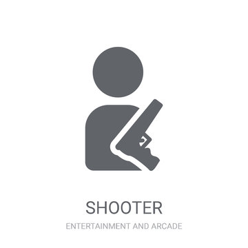 Shooter icon. Trendy Shooter logo concept on white background from Entertainment and Arcade collection