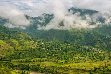 Landscape of Himalayas Lohaghat, Uttarakhand, India