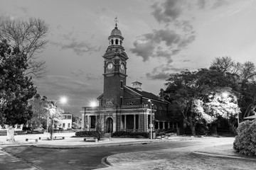 Maitland Court House in Black and White