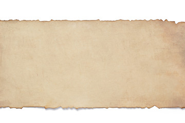 old retro aged paper isolated on white