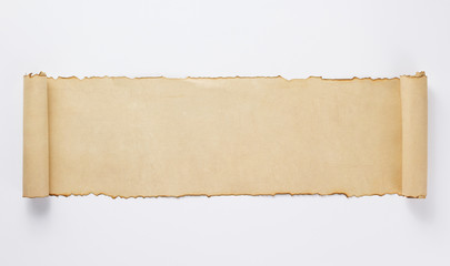 old retro aged paper parchment  on white