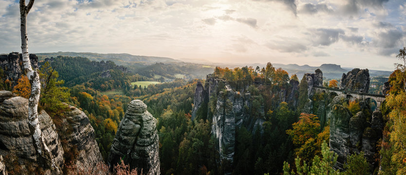 Aussichtspunkt Elbsandsteingebirge Sachsen